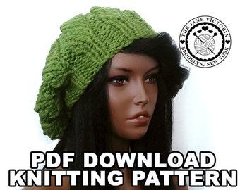 Pumpkin Beret Knitting PATTERN, Lessien Elensar, PDF DOWNLOAD