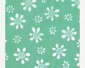 50% Off Half Yard - Wee Woodland by Keiki for Moda - Daisy on Turquoise