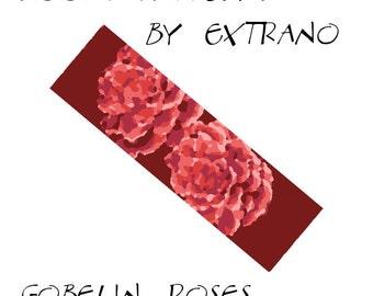 Loom bracelet pattern - GOBELIN ROSES - 5 colors only - Instant download