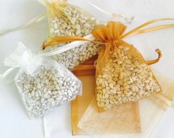 100 Wedding Favor Bird Seed Bags, Your Choice of Color