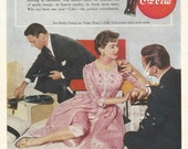 Vintage 1950s 1955 original magazine ad advertisement - Coca-Cola  ----Expires May 21, 2016 and will not be renewed----