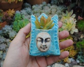ceramic wall planter miniature succulent wall pocket garden art