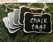 On SALE- 6 Fancy Wood Chalkboard Tags - Basket Labels, Wedding Chalkboard Tags, FEATURED in Better Homes and Garden Magazine, January