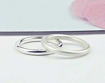 Simple Silver Rings -silver ring-simple silver ring-stack ring-stacking ring-silversynergy