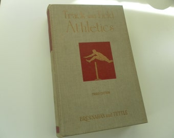 Track and Field Athletics Vintage Book 1950