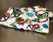 "Reusable Cold Pack pair, 3""x7"" in Groovy minky ~ by Talulah Bean"
