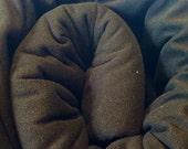 4.5+ Yards of Black AntiPill Malden Mills Microfleece for Clothing, Cloth Pads, Etc. ~ Talulah Bean