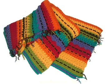 Crochet Pattern Afghan Rug Sampler, Crochet Throw Rug Afghan, Crochet Blanket, Horizontal design, instant download pattern