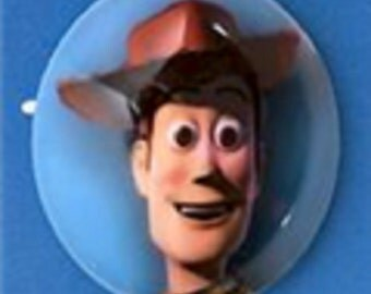 """Disney Toy Story Woody Domed 1"""" Button- Sold by the piece"""