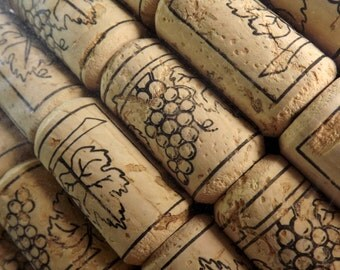 Wine Corks, 72 New, Crafts, Art Supply, Wine Making Supply 45mm by 24mm #9