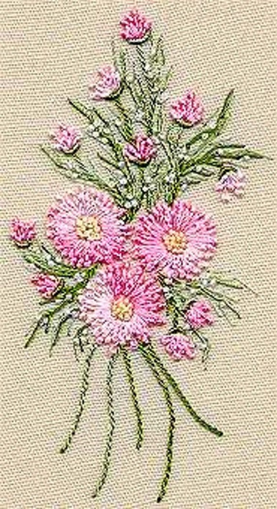 Geron Daisy Bouquet Brazilian Embroidery Kit 5102 EdMar