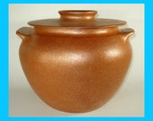 Native American-inspired 5 qt. Mica Bean Pot, All Handmade from Micaceous Clay, Clay Pot Cooking, Ceramic Pottery, Clay Bakeware