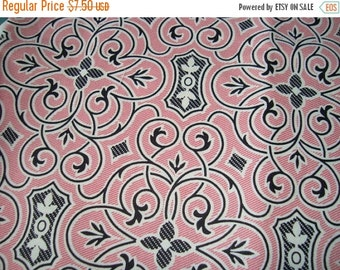 SUPER SALE SALE Black Fretwork on pink  Anna Griffin Eleanor Collection one yard