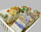 Cold Process Soap Sampler. U choose 6 guest soaps. .Ea. 2.1-2.5 oz..Party favors. Made by Nana J's Handmades.Free Shipping