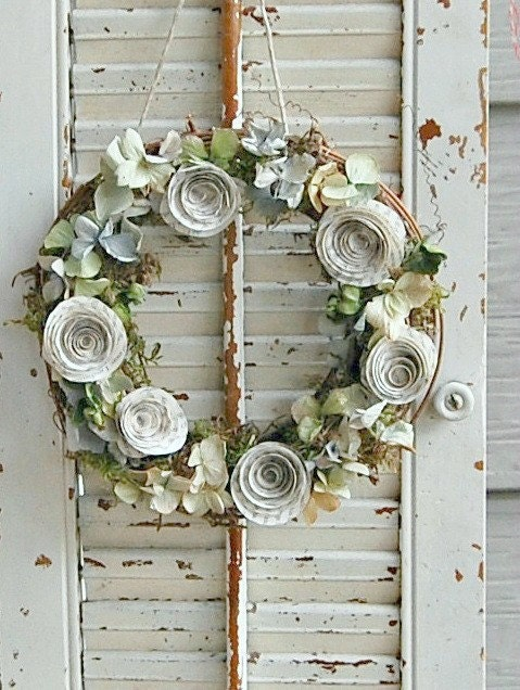 how to make a dried rose wreath