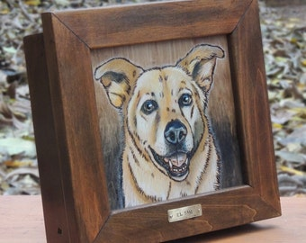 Dog Portrait Keepsake Box