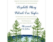 Lake View Wedding Invitation - Collection options available