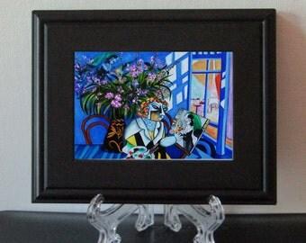 Framed Print, Small Print, Chagall print, Art Print Framed, Acrylic Easel, Chagall Print,