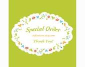 Special order for aeri**