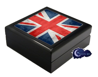 Flag of the United Kingdom, Union Jack - Jewelry and Keepsake Box
