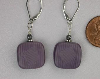 Mauve Gray Earrings