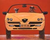"""212 Alfa Spider 1998 – print 38x38cm/15x15"""""""