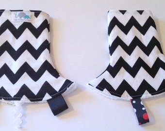 Drool Pad for SSC Carriers | Curved Drool Pads | Regular Drool Pads | Black Chevron