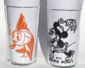 Vintage Minnie Mouse and Cleo Glasses Walt Disney Productions