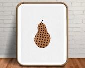 Modern Kitchen Decor, Abstract Wall Art, Minimalist Kitchen, Pear Print, Fruit Poster, Scandinavian Modern, Fruit Art, Gift for Vegetarian