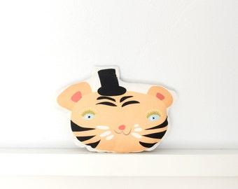 Tiger Stuffed Animal  - SALE   - Cotton/Linen Blend