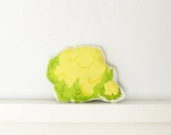Throw Pillow - Cauliflower - Decorative Pillow, Baby Pillow, Nursery Pillow, Stuffed Animal