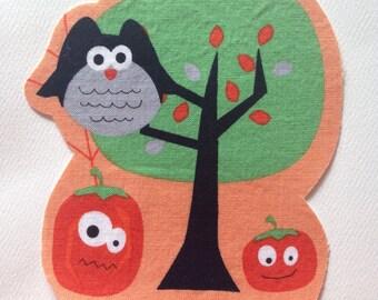 Fabric Iron On Autumn Halloween Appliqué