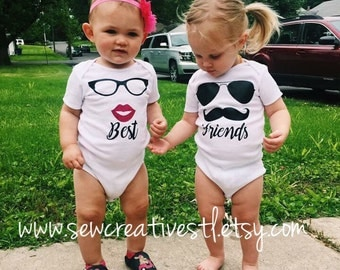 Baby Best Friends Bodysuit Set