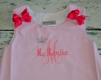 Personalized Princess A-Line Jumper Dress Aline Personalized Monogrammed
