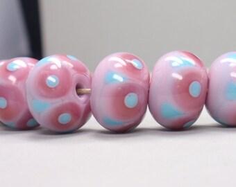 6 handmade lampwork beads