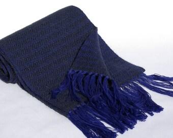 Handwoven scarf - Cotton/baby camel/ extrafine merino