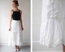 1910 White Ruffle Petticoat - XS