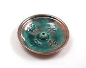 Raku Incense Burner Feng Shui LOVE SPIRIT PEACE Truth Handmade Raku Pottery