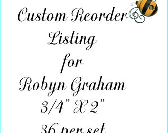 Custom Reorder Listing for Robyn Graham Rectangle Labels