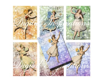 Fairies Digital Collage Sheet for Altered Art Collage Art Mixed Media