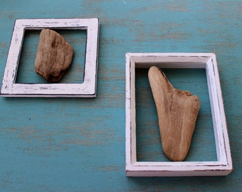 Set of 2 Driftwood Wall Hangings Unique One of a Kind Coastal Home Decor