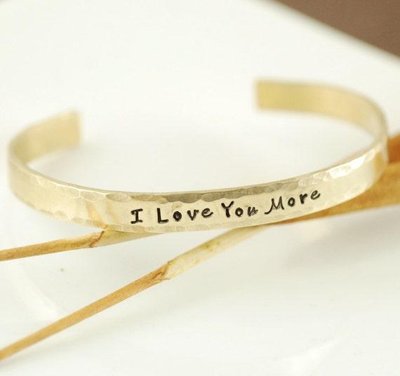 Love you more cuff bracelet personalized bracelets name cuff