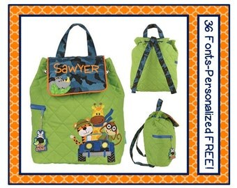 SALE 36 Fonts Toddler Camo SAFARI Personalized Quilted Backpack- Book Bag Monogrammed FREE Tiger, Monkey, Giraffe, Rhino