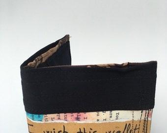 Bi fold wallet, Handcrafted wallet, unique wallet