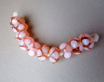 Peach Lampwork Beads - Set of 10