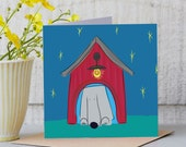 Home Sweet Home, weimaraner art, dog lover, apartment decor, pet portrait,new home card.