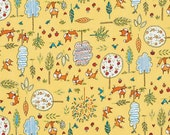 Fox Playground Transport  Dena Designs  PWDF189 YELLOW 1 Yard Cut