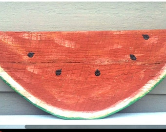 LARGE Vintage Folkart Watermelon