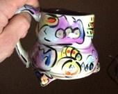 Wavy colorful graffiti style mug with