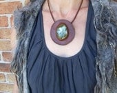 Prehnite necklace - naturally sourced & handmade in Australia - co creation with Ariom Desings - statement jewellery